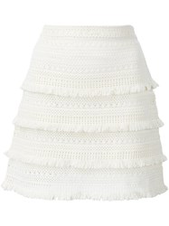 Joie Panelled Mini Skirt White