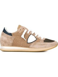 Philippe Model Logo Patch Sneakers Nude And Neutrals