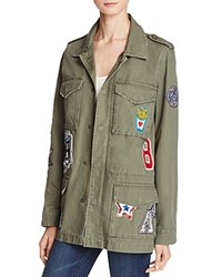 Sunset Spring Patched Army Anorak Green