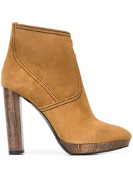 Burberry High Heel Ankle Boots Nude And Neutrals