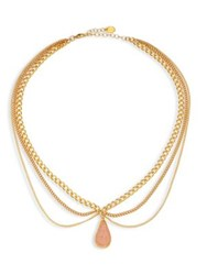 Chan Luu Layered Chain And Agate Necklace Gold