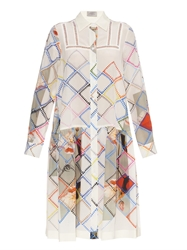 Preen Multi Print Silk Shirt Dress