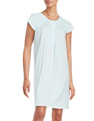 Miss Elaine Plus Paisley Nightgown Green