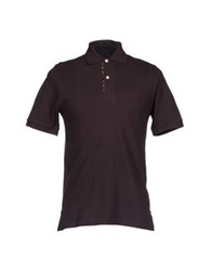 Aquascutum London Aquascutum Polo Shirts Dark Brown