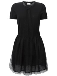 Red Valentino Flared Tulle Dress Black
