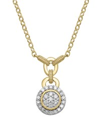 Lord And Taylor Diamond 14K Yellow Gold Necklace