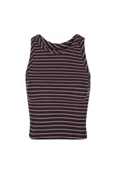 Nobody's Child Stripe Jacquard Tank Top By Navy Blue