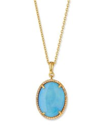 Gurhan Opal Cabochon And Diamond Necklace In 24K Gold