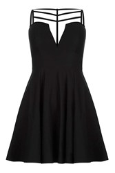 Rare Strappy Cut Out Skater Dress By Black