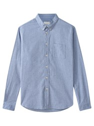 Jigsaw Flannel Melange Slim Shirt Light Blue