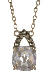 Judith Jack Gold Plated Sterling Silver Swarovski Marcasite And Cz Pendant Necklace Yellow