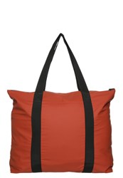 Rains Tote Bag Rust Red Metallic