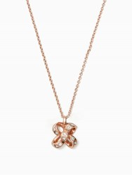 Kate Spade It's A Tie Bow Mini Pendant Clear Rose Gold
