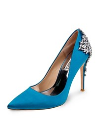 Badgley Mischka Gorgeous Embellished Pointed Toe Pumps Calypso Blue