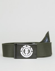 Element Beyond Webbing Belt Green