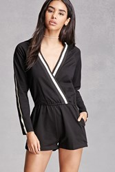 Forever 21 Heather Knit Striped Romper