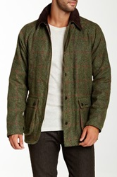 Barbour Bedale Window Pane Red Check Wool Jacket