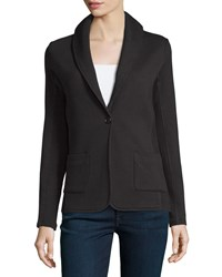 James Perse Shawl Collar Cotton Blazer Black