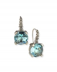 Stephen Dweck Drop Earrings Aqua Quartz