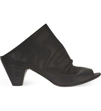 Marsell Slouchy Mule Leather Ankle Boots Black