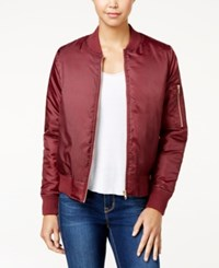 Say What Juniors' Bomber Jacket Zinfandel