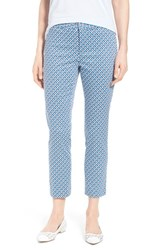 Petite Women's Nydj 'Corynna' Cotton Sateen Slim Ankle Pants Apex Tiles
