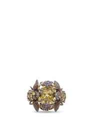 Anabela Chan 'Beetle' 18K Gold Solitaire Citrine Cocktail Ring Yellow Metallic