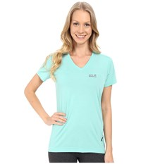 Jack Wolfskin Crosstrail T Shirt Pool Blue Women's T Shirt