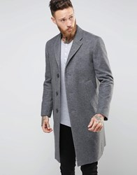 Nudie Jeans Waldo Recycled Wool Overcoat Grey Two Tone