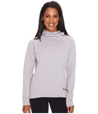 Lucy Lux Fleece Pullover Silver Filigree Heather Women's Long Sleeve Pullover Gray