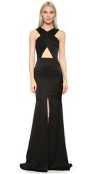 Alex Perry Sapphire Gown Black