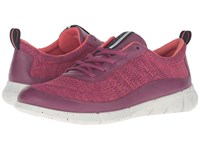 Ecco Intrinsic Knit Fuchsia Coral Blush Women's Walking Shoes Pink