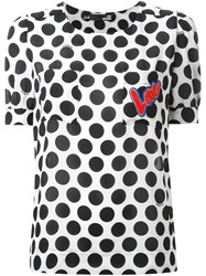Love Moschino Polka Dot Print T Shirt White