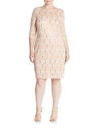 Jax Plus Size Sequined Shift Dress Cameo Rose