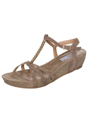 Pier One Wedge Sandals Taupe Brown