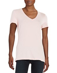Lord And Taylor Petite Stretch Cotton V Neck Tee Fairy Tale