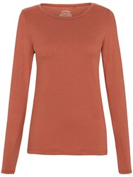 Fat Face Hollie Long Sleeve T Shirt Terracota