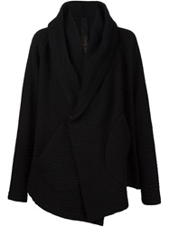 Forme D'expression Shawl Collar Cardigan Black