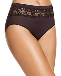 Tc Fine Shapewear Tc Fine Intimates Lace Trim Gripper Brief A4 075 Black