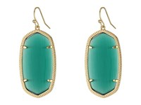 Kendra Scott Danielle Earrings Gold Emerald Cats Eye Earring Blue