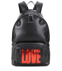 Givenchy Small Printed Leather Backpack Black