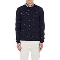 Etro Men's Cable Knit Sweater Navy
