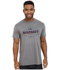 Marmot Trinity Short Sleeve Tee Charcoal Men's T Shirt Gray