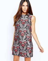 Warehouse Tapestry Shift Dress Multi