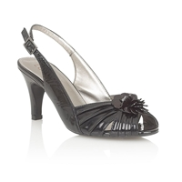 Lotus Trini Court Shoes Black Patent