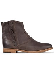 Jigsaw Charlie Leather Western Boot Chocolate