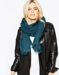 Oasis Oversized Textured Scarf Green