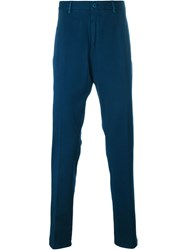 Etro Contrast Pocket Straight Leg Trousers Blue