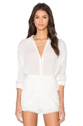 The Jetset Diaries Morning Swim Blouse Ivory