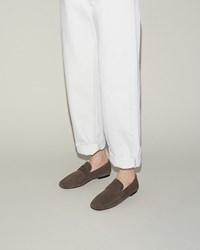 Isabel Marant Flynn Velvet Loafer Grey